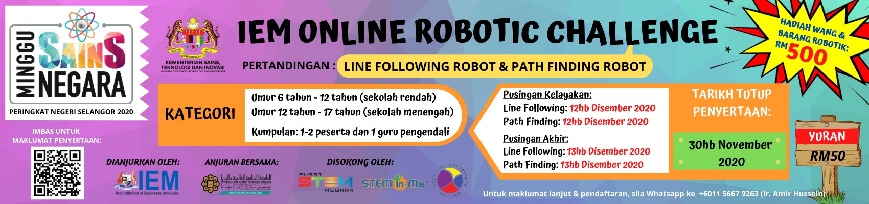 IEM Online Robotic Challenge 2020 for Primary and Secondary School Students