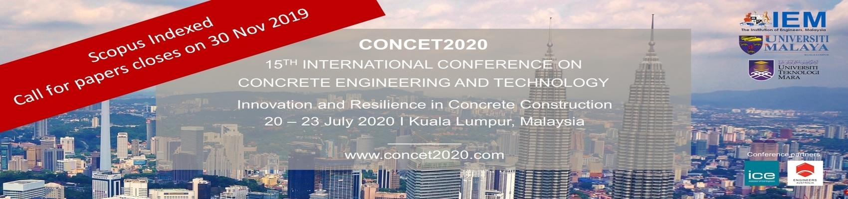 15th International Conference on Concrete Engineering and Technology (CONCET2020)
